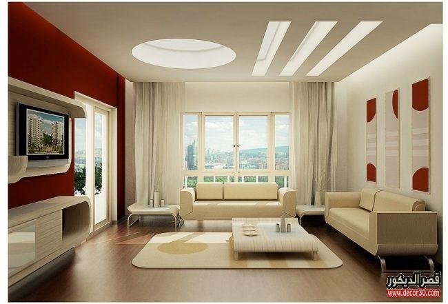 ديكورات غرف جلوس تركية بالصور