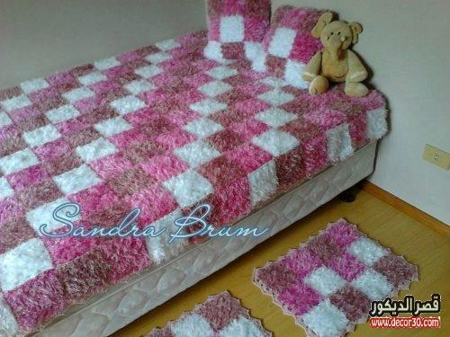 اغطية سرير بالكروشيه للاطفال