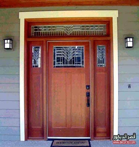 الوان أبواب خشب خارجي