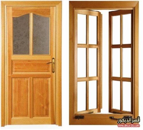 الوان أبواب خشب للغرف
