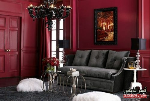 الوان الجدران لغرف الجلوس نودرن