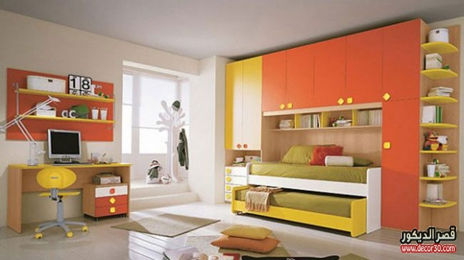 صور غرف نوم اطفال بسريرين