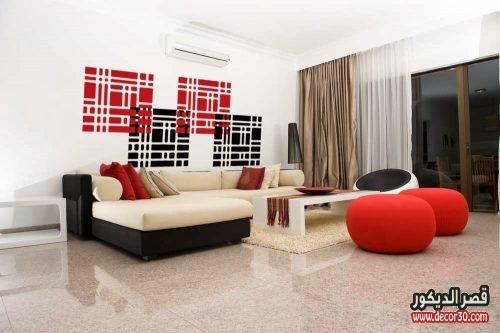 الوان غرف الجلوس المودرن بسيطة