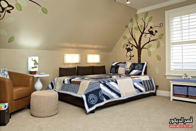 صور غرف نوم شبابية