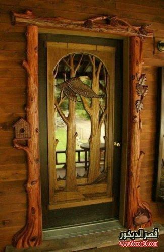 أحدث تصاميم الأبواب