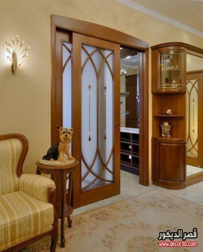 ابواب غرف خشب مع زجاج