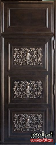 اجمل الابواب الخشبية الداخلية