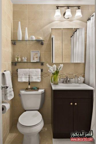 تصاميم حمامات صغيرة الحجم