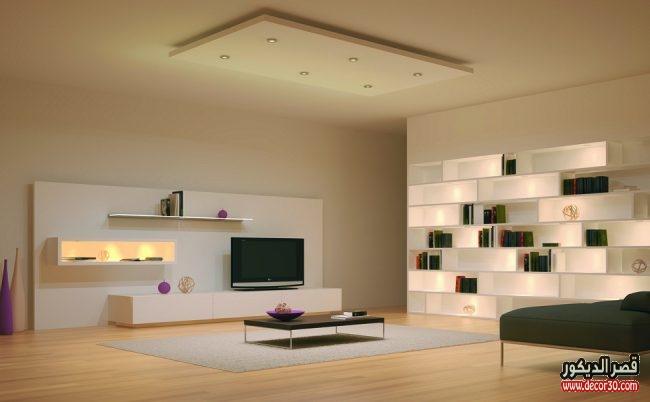 تصميمات جبس بورد غرف معيشة