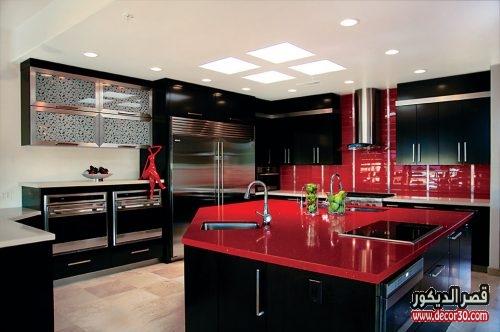 تصميم مطبخ مستطيل