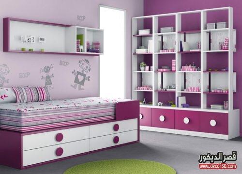 ديكورات غرف نوم اطفال بنفسجي