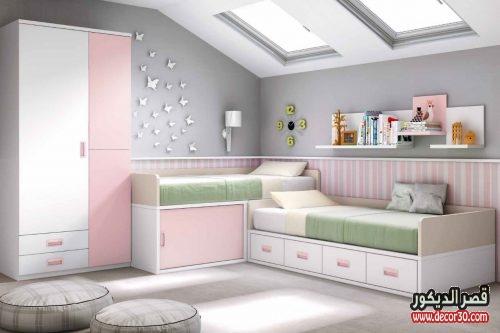 ديكورات غرف نوم اطفال بينك