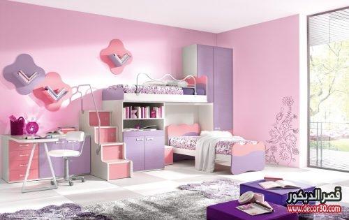 ديكورات غرف نوم اطفال سريرين