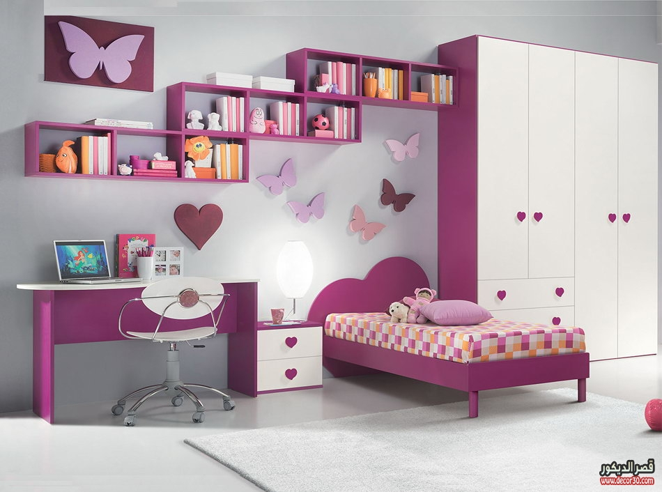 Decor bedrooms for children for Habitaciones para nina