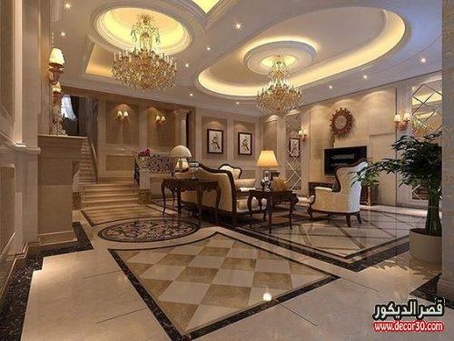 جبس امبورد أسقف صالات Gypsum Emporium Ceilings Hall قصر الديكور