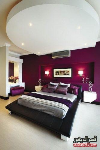 دهانات غرف نوم الوان الحوائط الحديثة ،Modern bedroom paints   قصر