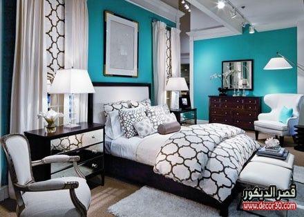 صور الوان حوائط غرف النوم الحديثة