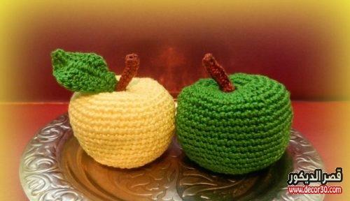 طريقة عمل تفاحة بالكروشيه