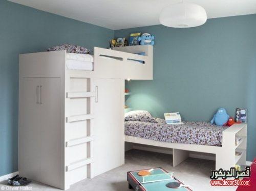 غرف اطفال بسريرين بسيطة
