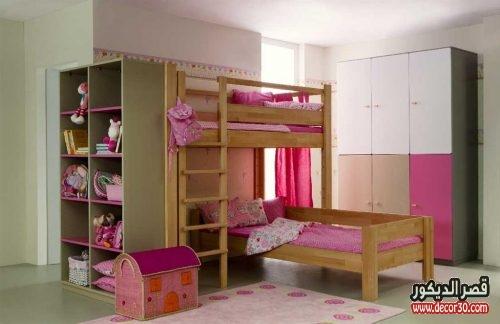 غرف اطفال بسريرين بناتي
