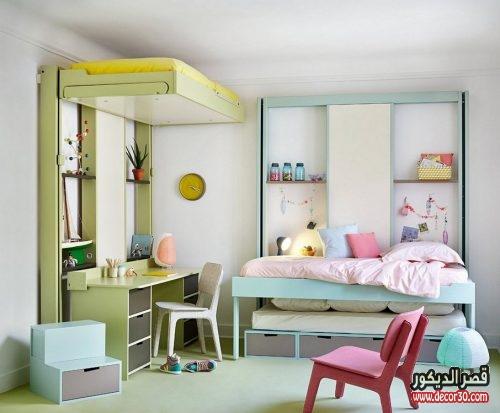 غرف اطفال بسريرين جديدة