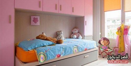 غرف اطفال بسريرين حديثة