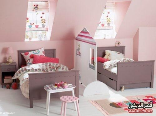 غرف اطفال بسريرين صغيرة