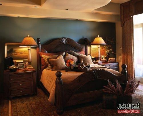 غرف نوم ملونة