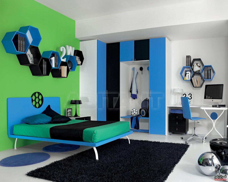 غرف نوم شباب مودرن الوان غرف اولاد ٢٠١٨ جديدة   قصر الديكور