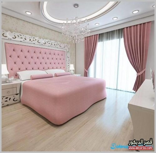 الوان غرف نوم للعرسان مودرن بالصور 2018 قصر الديكور