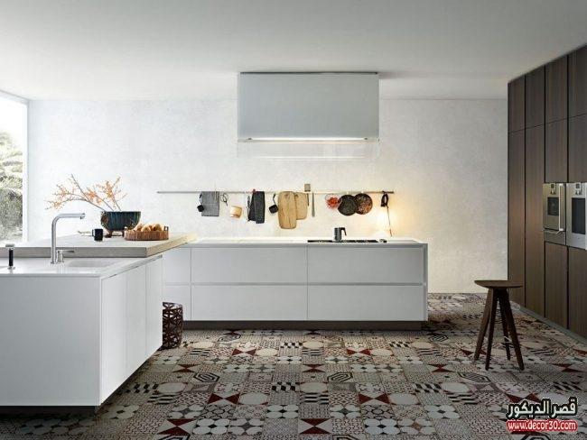 تصاميم سيراميك ارضيات مطابخ فخمة