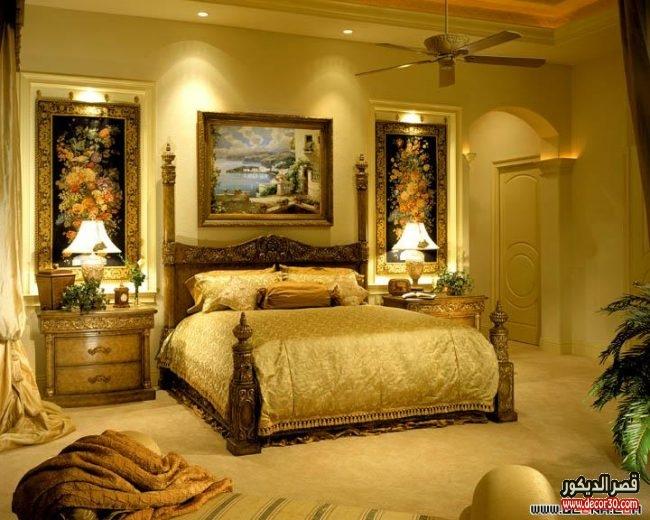 بالصور غرف نوم كلاسيك جذابة