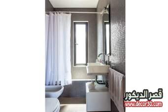 اللون الرمادى في الحمامات