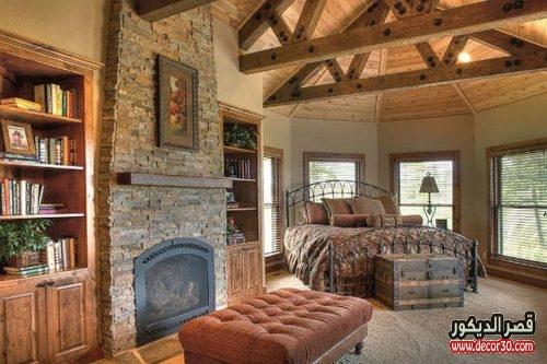 غرف نوم خشبية
