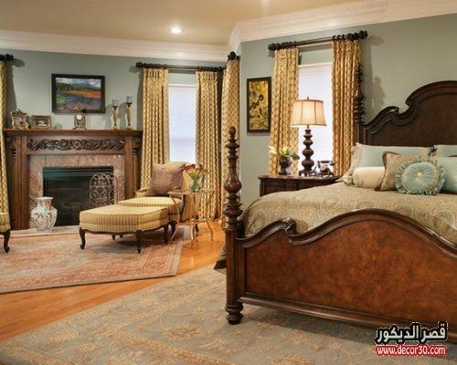 الوان خشب غرف نوم