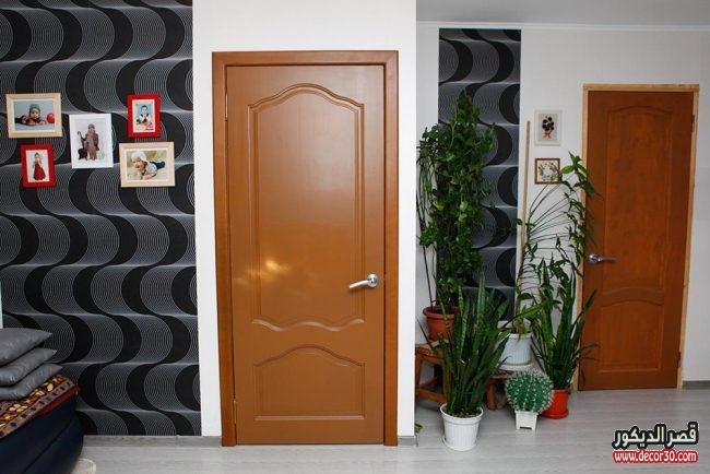 صور ابواب غرف خشب