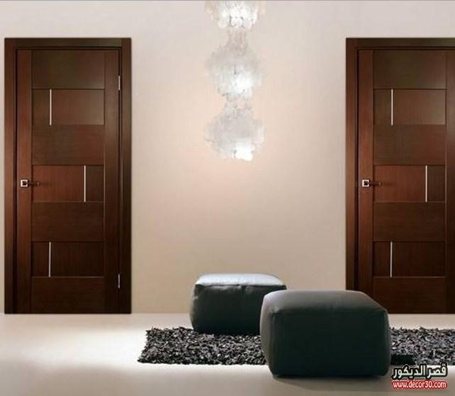 أبواب غرف خشبية 2018