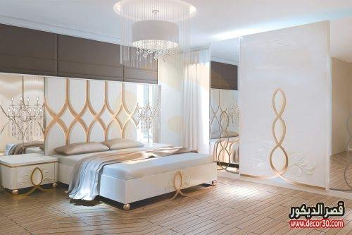 اشكال غرف نوم كاملة بالدولاب 2018
