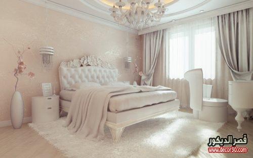الوان غرف نوم للعرسان ابيض