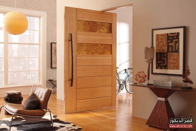 أبواب خشب داخلية بالصور