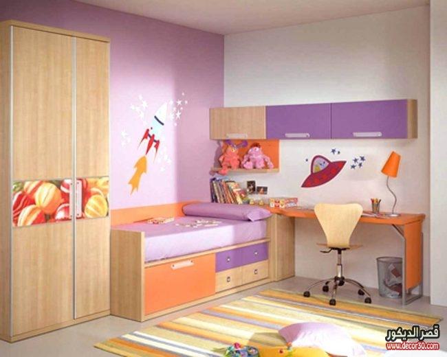 الوان غرف نوم مودرن للأطفال