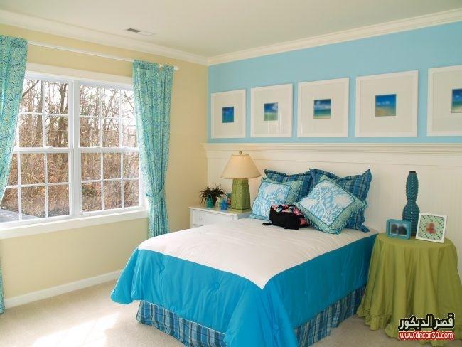 الوان ديكور جذابة لغرف نوم
