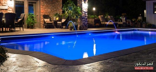 تصاميم حمامات سباحة جديدة