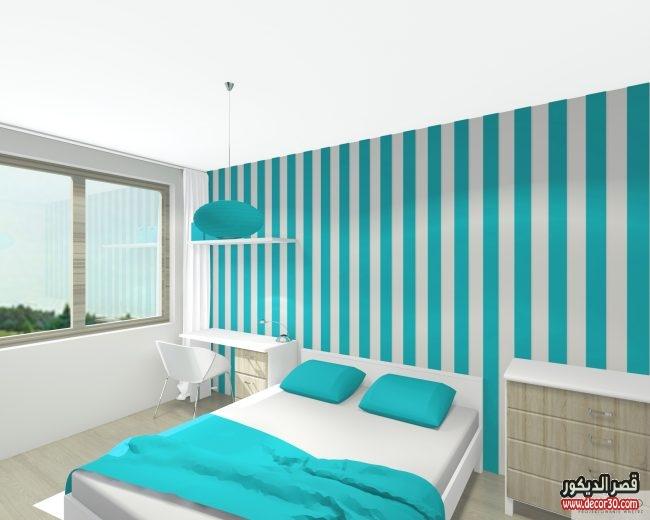 دهانات غرف نوم الوان حوائط اوض حديثة   قصر الديكور