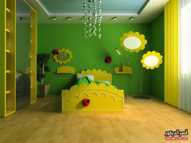 دهانات غرف أطفال حديثة