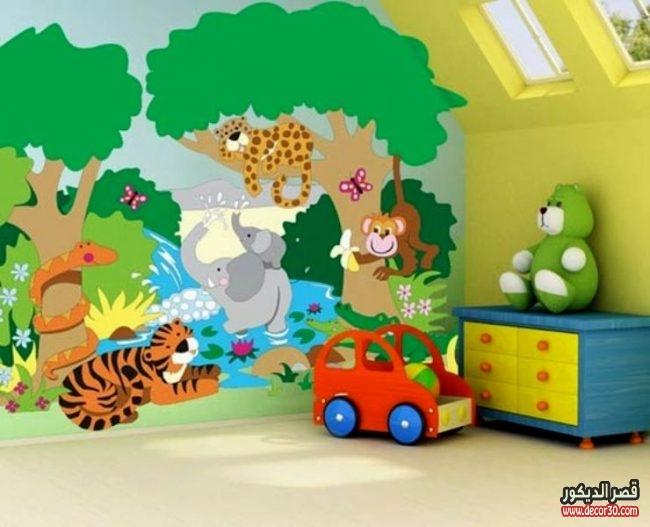 تصاميم دهانات جدران غرف أطفال