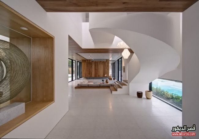 تصاميم فلل مودرن من الداخل 2018