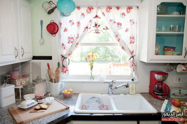 اجمل ستائر المطبخ الحديثة