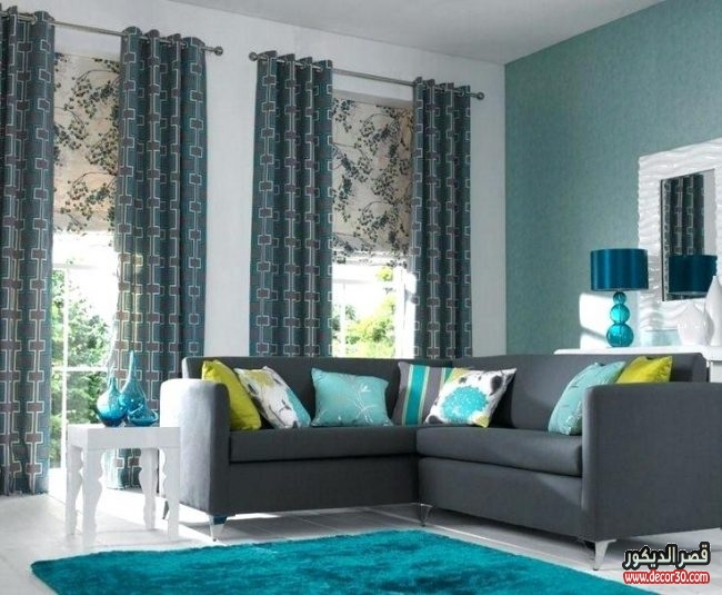 2018 for Teal black and white living room ideas