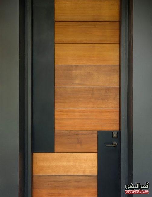 اشكال أبواب خشب للغرف